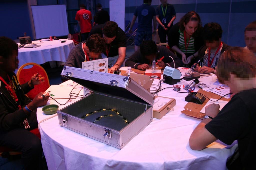 L'atelier Dominoux animé pendant l'après midi
