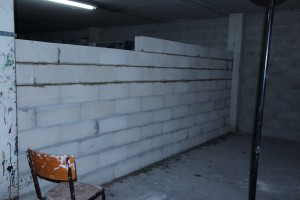 Mur en blocs béton