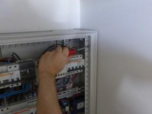 Mise en place de l'installation électrique