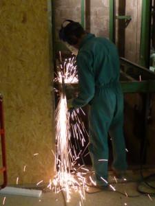 Tronçonnage de poutrelles en acier