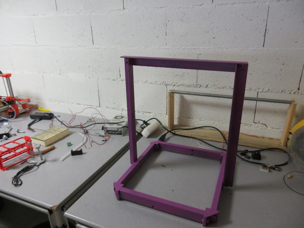 Le chassis du prototype 2 de l'Electrorap